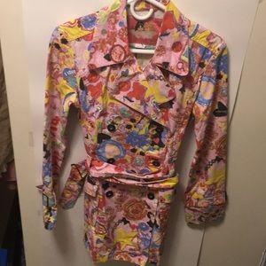 Fionucci Two Cherub Angels Design Printed Jacket